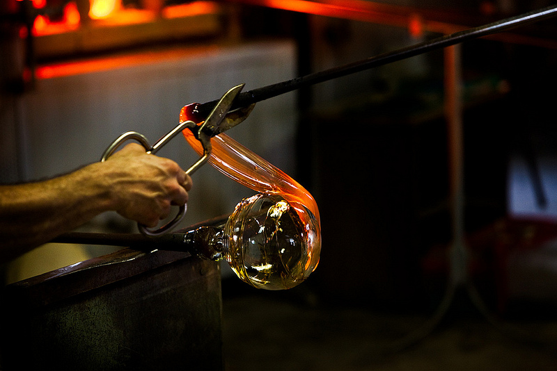 Producing glass.